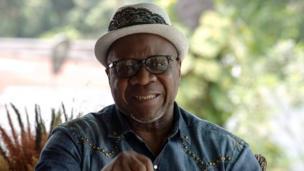 Papa Wemba pictured in Kinshasa, 2014