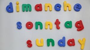 Sunday in different languages