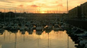 Milford Haven sunset by Nicholas Baynham