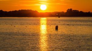 Evening at Farmoor Reservoir