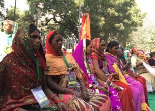 કિસાન સંસદમાં બેઠેલી મહિલાઓની તસવીર
