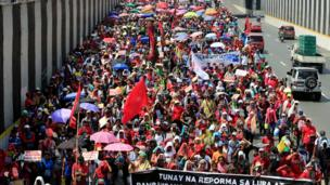 Hari Buruh, pekerja, Manila, Filipina
