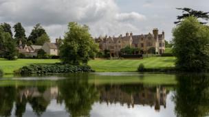 Barton Abbey, Steeple Barton, Oxfordshire, a near-still day giving a good reflection