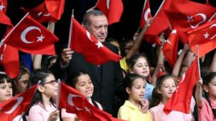 Cumhurbaşkanı Recep Tayyip Erdoğan, Beştepe'de çocuklarla bir araya geldi.