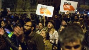 İstanbul'daki protestolardaki protestolardan bir kare