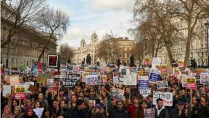Trump karşıtı protesto