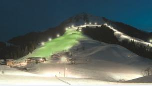 The was a 'green run' on a ski slope in Austria