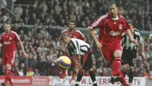 Robbie Fowler playing for Liverpool