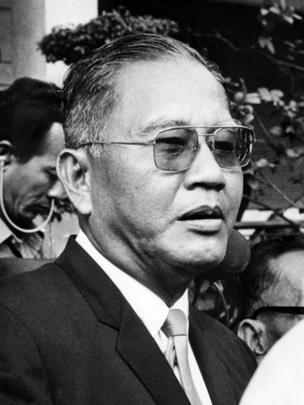 Tướng Dương Văn Minh, tổng thống cuối cùng của Việt Nam Cộng Hòa. Ảnh chụp năm 1971