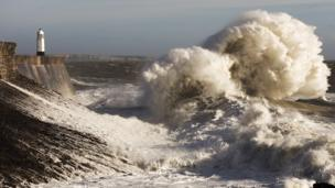 The wild sea - The awesome power of nature as Storm Doris hits the coast at Porthcawl in this pic by Susan Dobbs