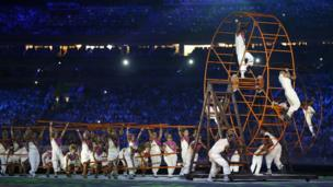 Dancers perform during opening ceremony