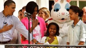 Obama da iyalinsa ranar Easter Egg Roll, 2010