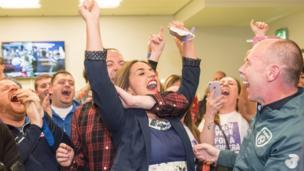 Sinn Féin's Elisha McCallion was ecstatic after taking the Foyle seat from the SDLP