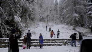 مری میں برفباری