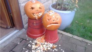 Rosie and Grace's pumpkins