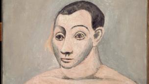 """Obra: """"Autorretrato"""", óleo sobre lienzo, Pablo Picasso, 1906"""