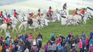 Battle of Waterloo re-enactment