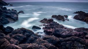 The sea at Southgate, Gower Peninsula