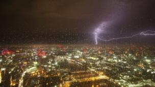 Image of storm taken from The View from The Shard