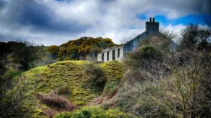 Deserted cottage at Penmon, Anglesey