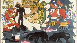 """Obra: """"La creación del universo"""", acuarela, Diego Rivera, 1931"""