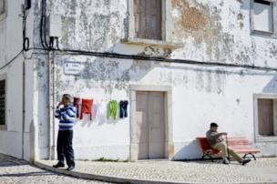 Dos hombres en la calle