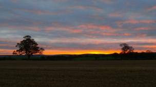 Dawn over East Lothian