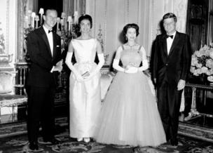 महारानी और प्रिंस फ़िलिप, कैनेडी और उनकी पत्नी