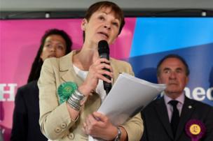 النائبة البارزة في حزب الخضر كارولين لوكاس