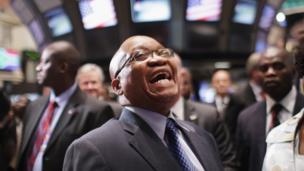 Jacob Zuma, laughing