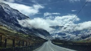 Jac Jones took this photograph of Cwm Ogwen, near Bethesda, whilst travelling to Gobowen