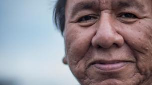 ancho, pictured here, is from the Standing Rock Reservation