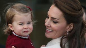 Princess Charlotte and her mum The Duchess of Cambridge
