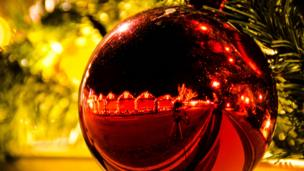 Bauble on a Christmas tree
