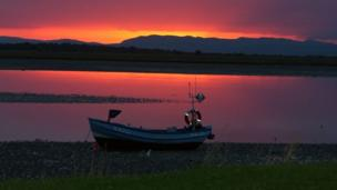 Sunset taken over Inver Bay on Dornoch Firth looking west.