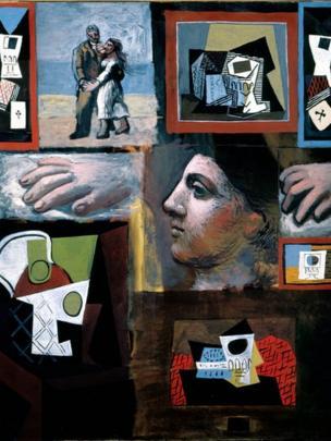 """Obra: """"Estudios"""", óleo sobre lienzo, Pablo Picasso, 1920"""