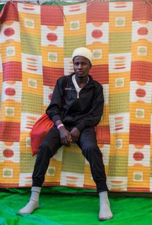 موسى لطيف من السودان قضى ثلاثة أشهر في ليبيا وكان يريد الهجرة إلى ألمانيا.