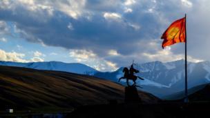 Flag in Kyrgyzstan