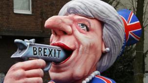 Carnival float mocking UK PM Theresa May