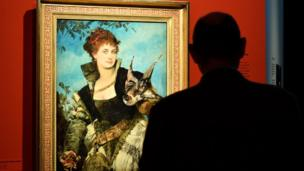 """La cetrera"", del artista austríaco Hans Makart (1840-1884)."