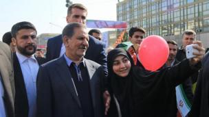 سلفی با حسن روحانی، معاون اول رئیسجمهور