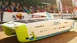 Di Punch Powertrain Solar Team car dey comot starting line for Darwin