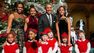 2014年第一家庭在華聖誕音樂會。