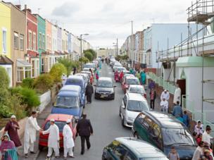 Eid al-Fitr Celebrations, Jamia Mosque, Green Street, Bristol, 8 August 2013