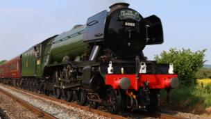 The Flying Scotsman making its way through Goytre, near Abergavenny, as seen by Nathan Morgan