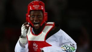 L'ivoirienne Ruth Gbagbi, championne du monde de Taekwondo en Corée du Sud.