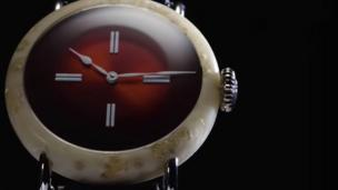 Swiss watch made out of cheese