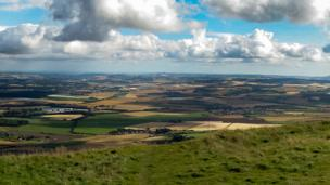 View from the summit of East Lomond Hill