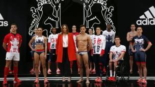 Team GB athletes in their Rio 2016 kit