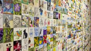 Hundreds of paintings